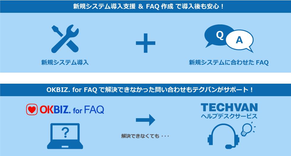 新規システム導入&問い合わせ対応はテクバンにお任せ下さい!